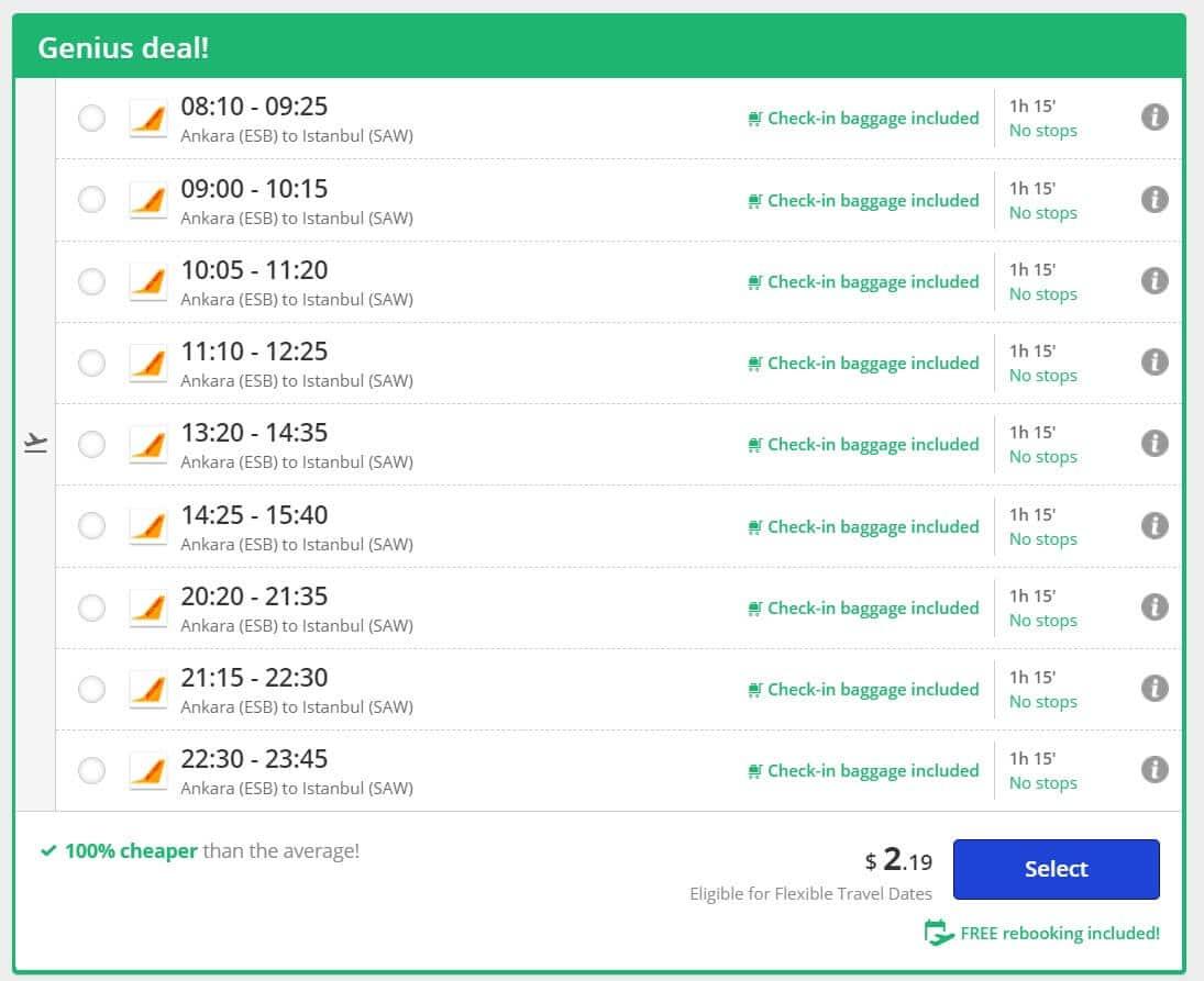 ankara istanbul en ucuz bilet