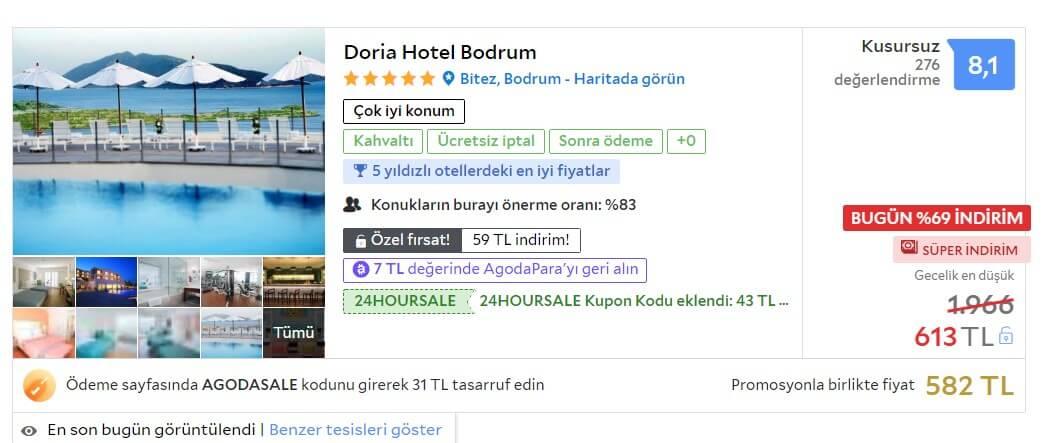 bodrum en ucuz 5 yıldızlı otel
