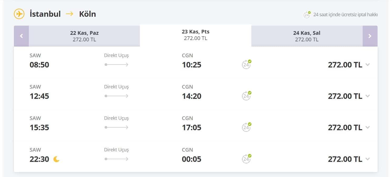 Ucuz istanbul Köln uçak bileti fırsat fiyatları