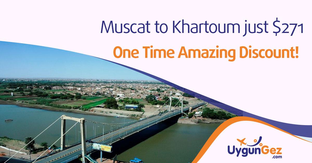 muscat to khartoum