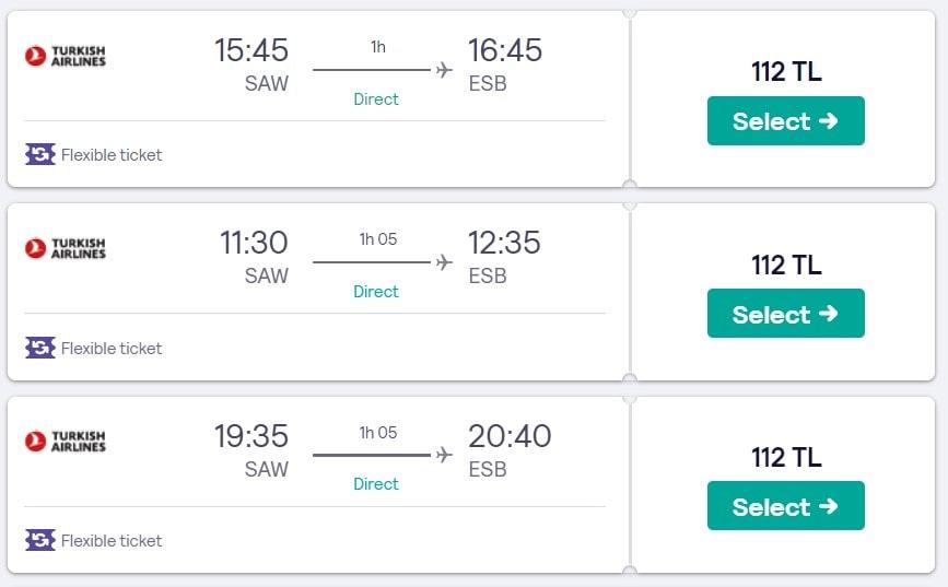 İstanbul Ankara ucuz bilet fiyatları