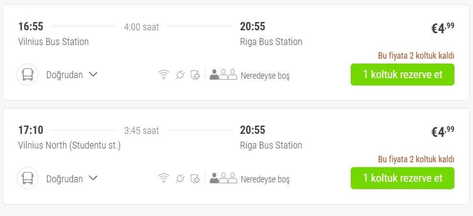 FlixBus örnek indirimli fiyat