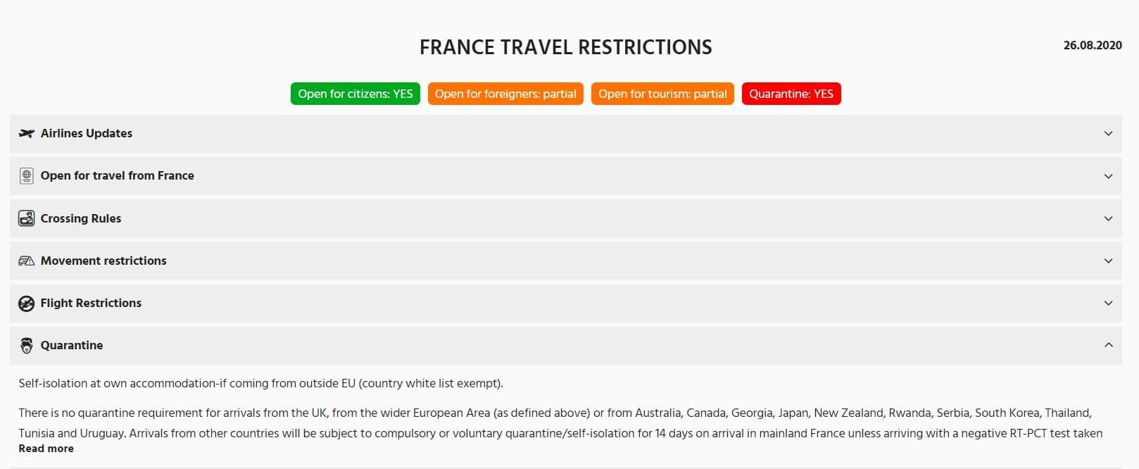 Fransa karantina uyguluyor mu?