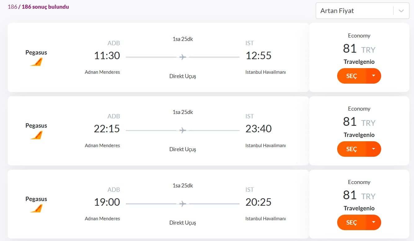 İzmir İstanbul seyahat fırsatı. Uygun uçak bileti fiyatı