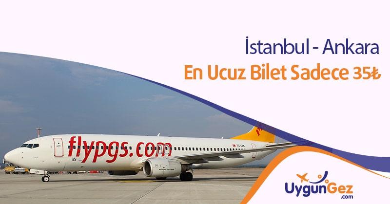 İstanbul Ankara en ucuz bilet fırsatı