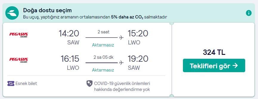 İstanbul Lviv uçak bileti fırsatı fiyatı