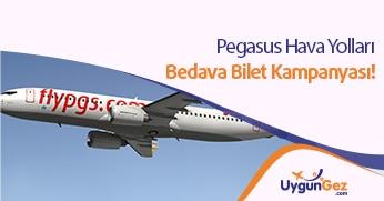 Pegasus bedava bilet kampanyası