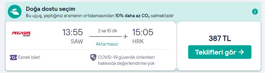 İstanbul Kharkiv ucuz uçuş fiyatı