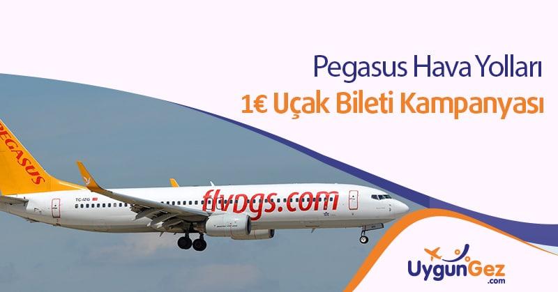 Pegasus Avrupa Uçak Biletleri 1€ Fırsatı