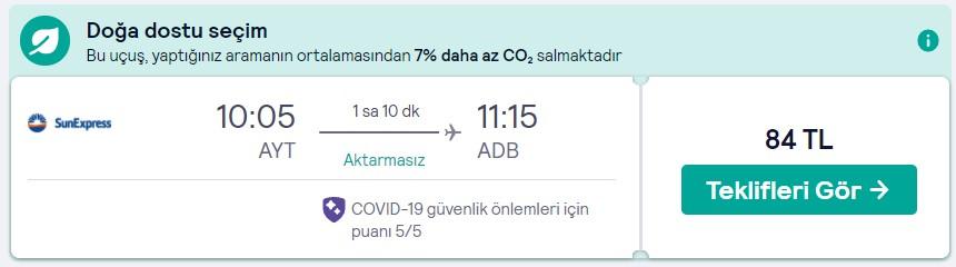 Uçak bileti fırsat fiyatı