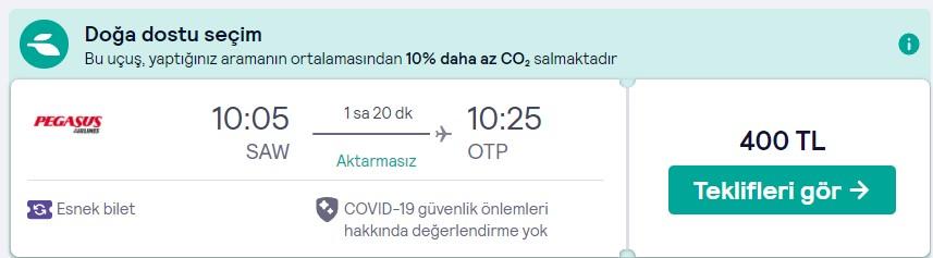 İstanbul Bükreş, seyahat fırsatı