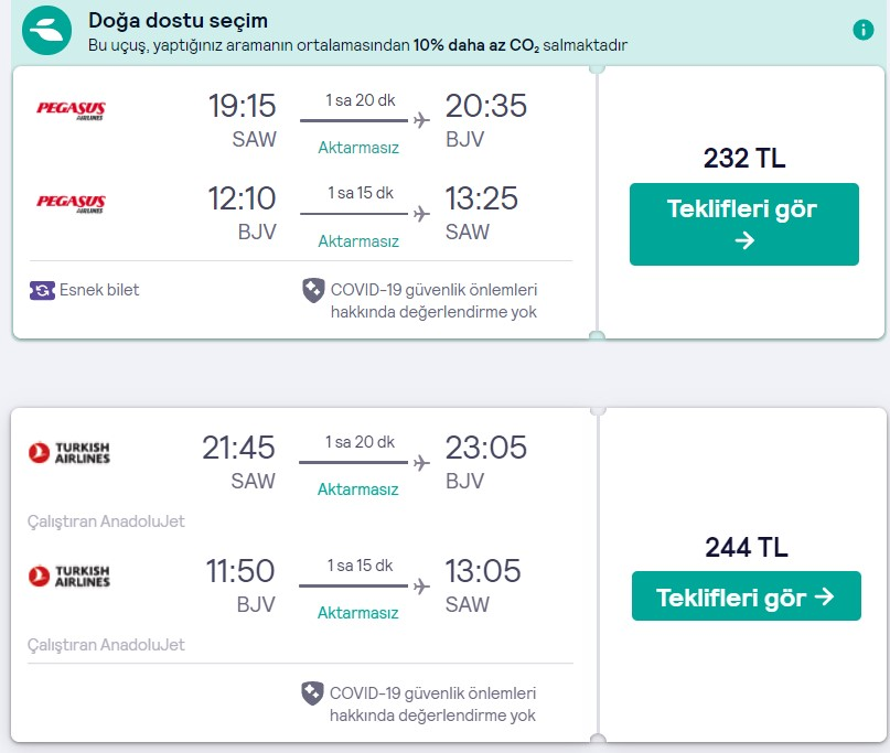 İstanbul Bodrum uçak bileti fırsatı