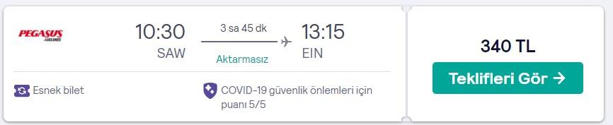 Hollanda uçuş fırsatı