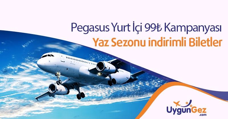 Pegasus Yurt İçi Uçak Bileti Kampanyası