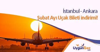 Şubat ayı Ankara uçak bileti indirimi