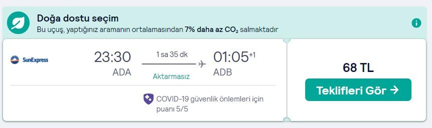 Adana İzmir ucuz bilet fiyatı